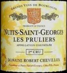 2014 Chevillon Nuits St Georges Pruliers