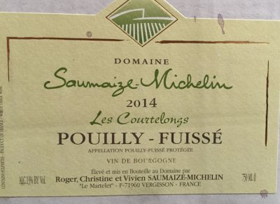 2018 Saumaize Michelin Pouilly Fuisse les Courtelongs