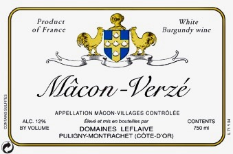 2017 Domaines Leflaive Macon-Verze