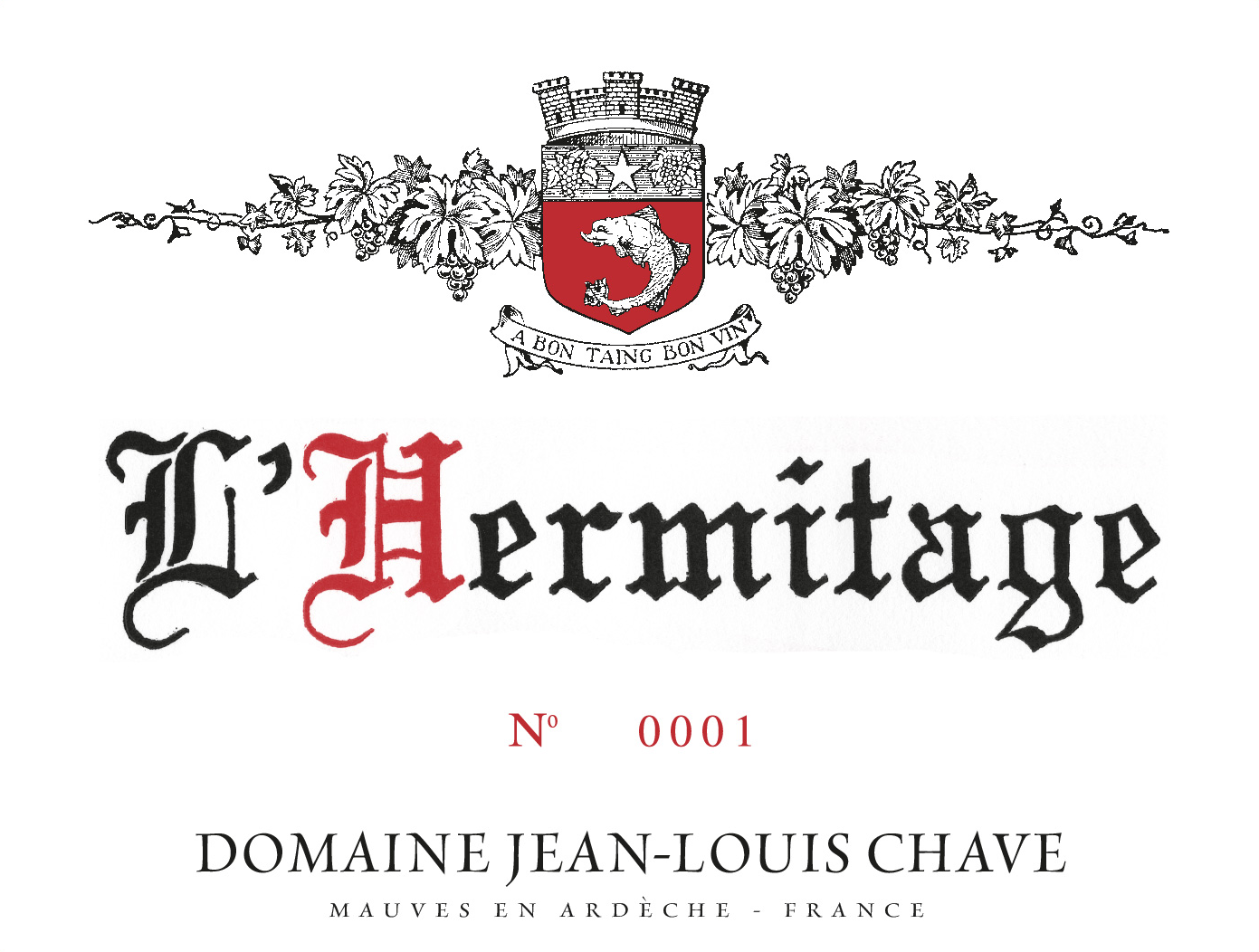 2017 Chave Hermitage Rouge