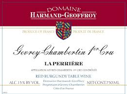 Harmand Geoffroy Gevrey Chambertin 1er Perrieres - Click Image to Close