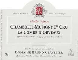 2014 Clavelier Chambolle Musigny 1er La Combe d Orveaux