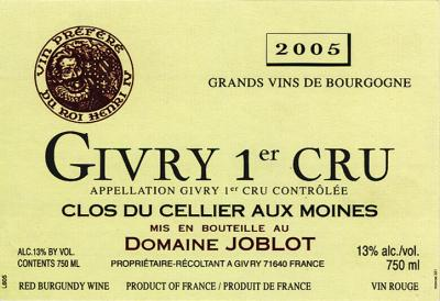 Joblot Givry 1er Cellier Aux Moines - Click Image to Close