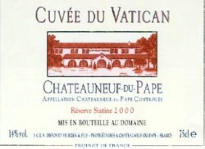 Cuvee du Vatican Chateauneuf Reserve Sixtine - Click Image to Close