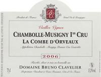 2010 Clavelier, Bruno Chambolle Musigny La Combe d Orveaux