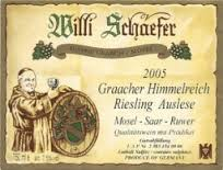 Willi Schaefer Graacher Domprobst Riesling Auslese #11 - Click Image to Close